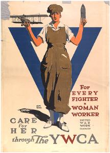 For every fighter a woman worker care for her through the YWCA